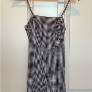 Urban outfitter size 0  checkered jumpsuit